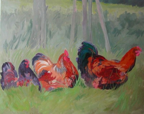 HENS IN A HURRY