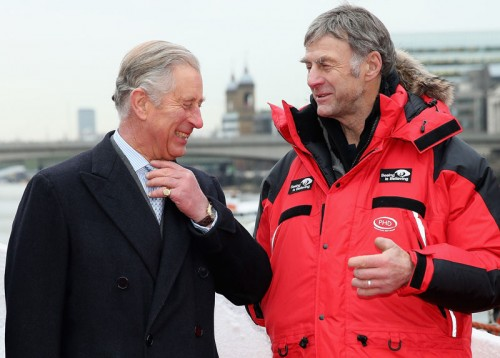 HRH Prince Charles and expedition leader Sir Ranulph Fiennes