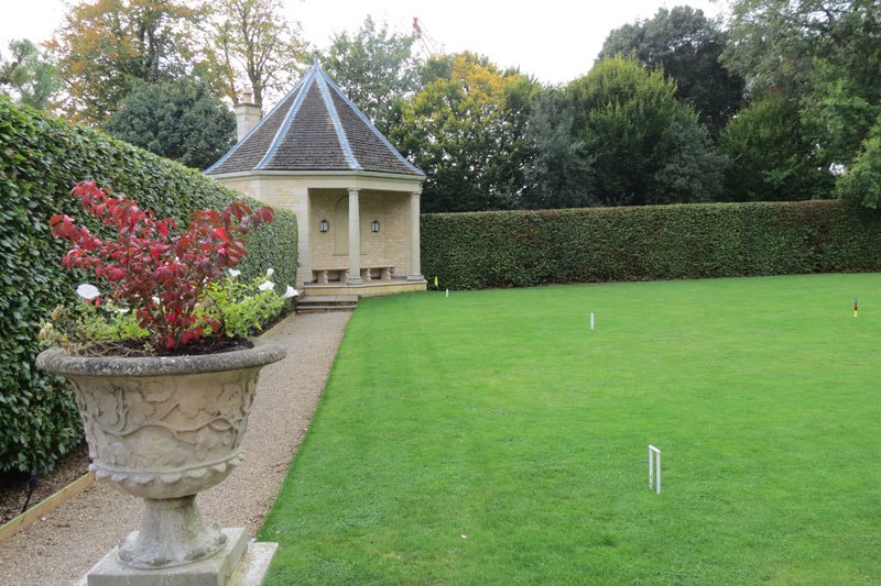 Croquet lawn at Hambleton Hall in Rutland