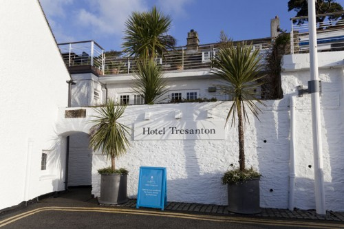 Hotel Tresanton Entrance in St.Mawes Cornwall
