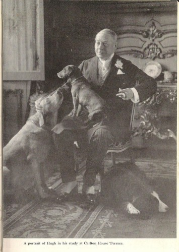 Hugh Lowther with dogs Carlton House Terrace