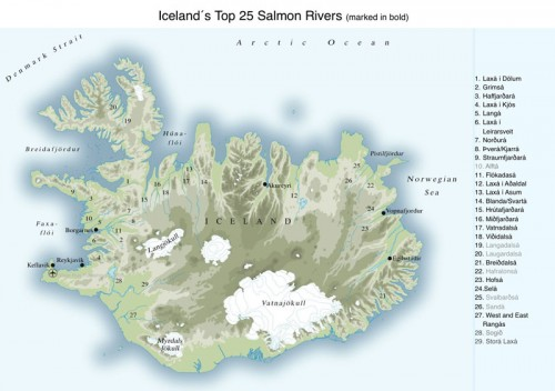 Iceland's Top 25 Salmon Rivers