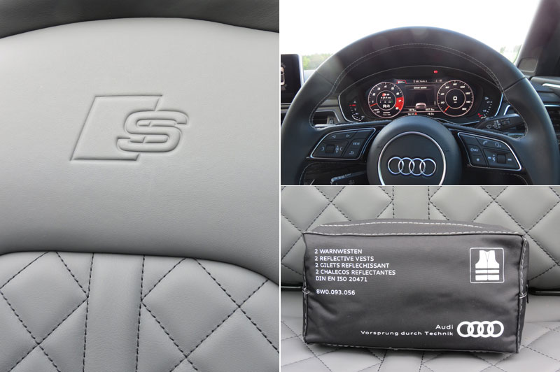 Interior shots of Audi S5 Cabriole