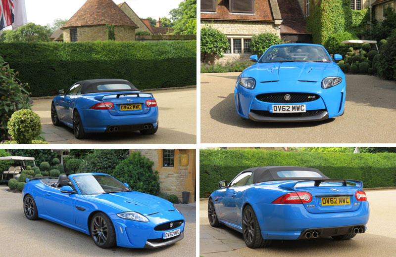 Jaguar XKR S Convertible at Le Manoir Quat Saisons