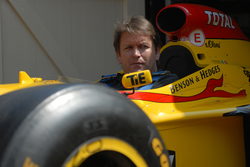 James Martin in his Benson & Hedges sponsored by Jordan Peugeot Formula1 car 1997 by Giancarlo Fisichella