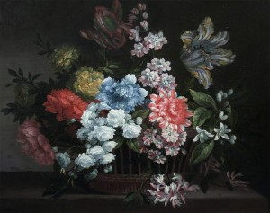 Jean-Baptiste Monnoyer - Still life of Flowers in Basket