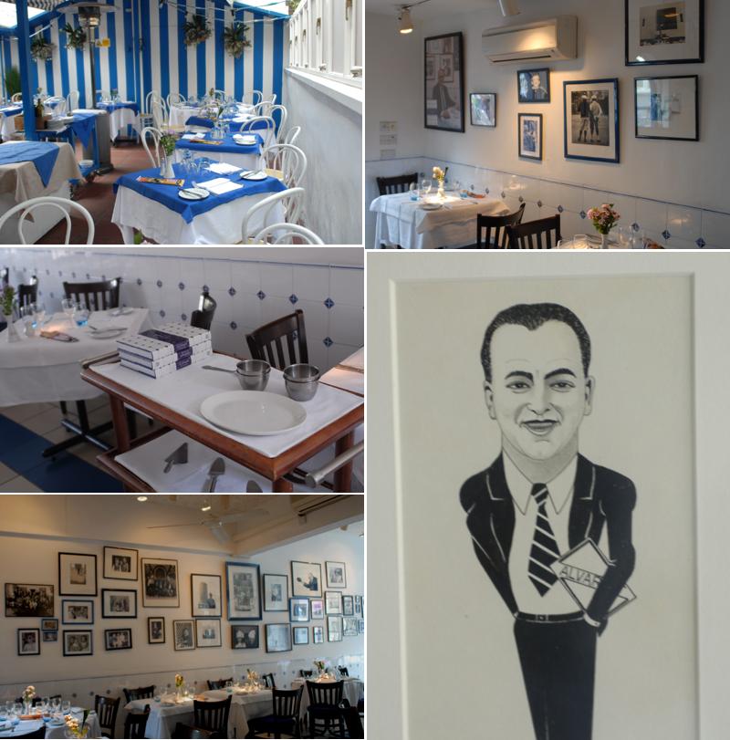 La Famiglia Interior and garden restaurant