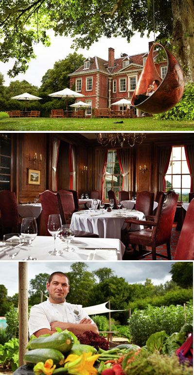 Lainston House Dining Room and Chef Phil Yeomans
