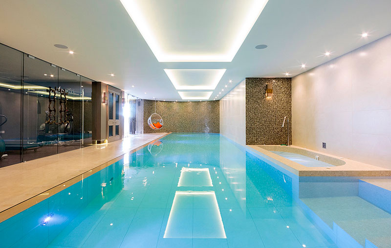 Landford Stone win International Design and Architecture Award for supplying all the stone for the swimming pool in Sandbanks property
