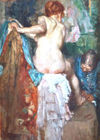 Femme a sa toilette by Laudy-smaller