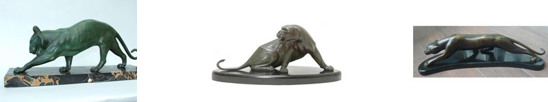 Panther Sculptures by George Lavroff