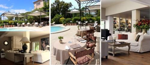 Le Mas de Chastelas Terrace, pool and Lounge area