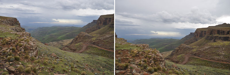 View from Sani Path Lesotho