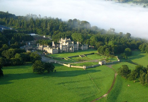 Lowther Castle aerial view