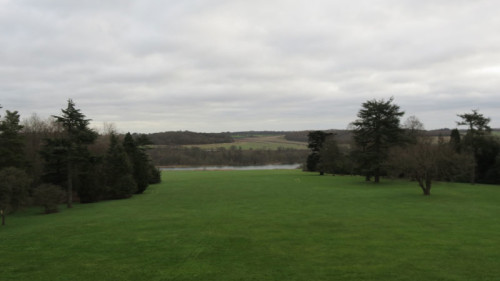 Early morning view taken from The Queen Elizabeth Suite at Luton Hoo Hotel