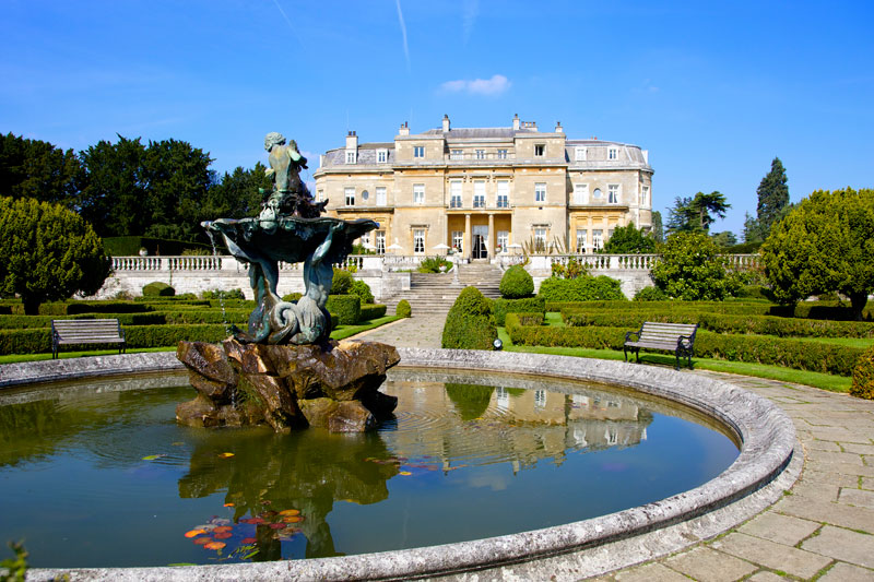 Luton Hoo Hotel viewed from the formal gardens
