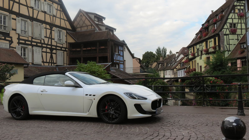 Maserati-GranCabrio-MC-on-the-bridge-in-Little-Venice-in-Colmar-France-1