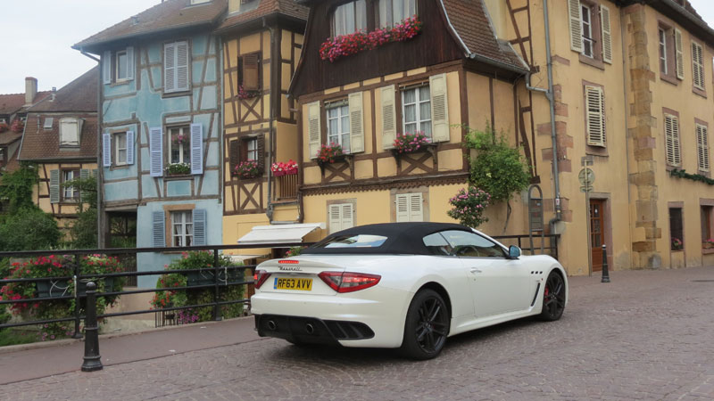 Maserati-GranCabrio-MC-on-the-bridge-in-Little-Venice-in-Colmar-France