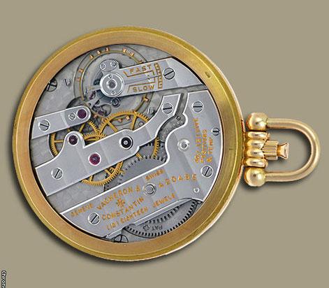 Movement of Vacheron and Constantin Ultra Slim Pocket Watch