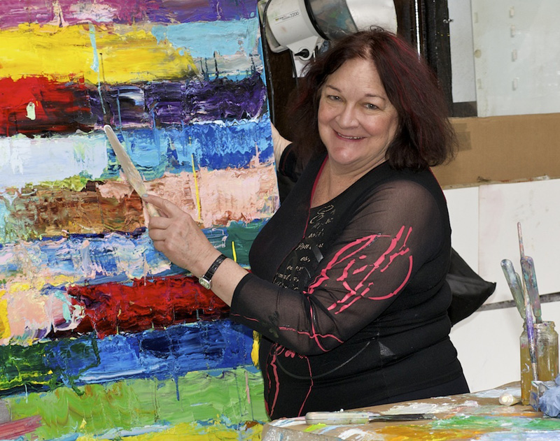 Monroe Hodder in her studio