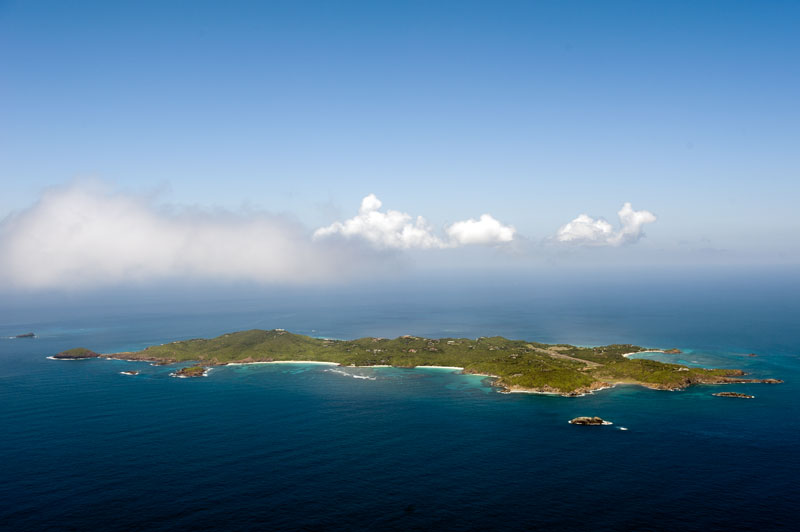 Aerial view of Mustique