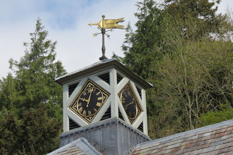 Newly restored Clock Tower at Hotel Endsleigh