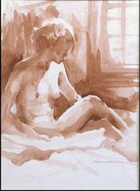 Charlie Mackesy - Nude Study