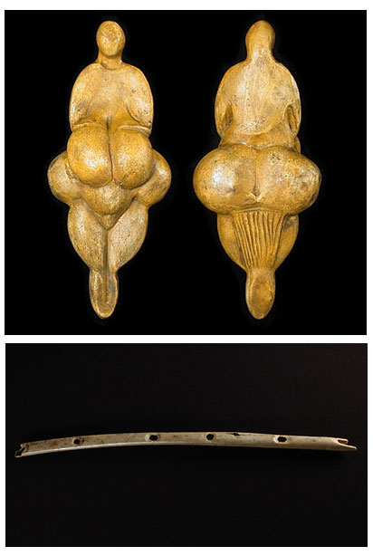 Obese female figure and Flute