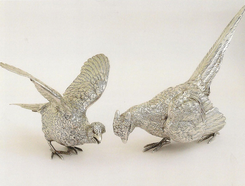 Pair-of-pheasants-in-unusual-poses