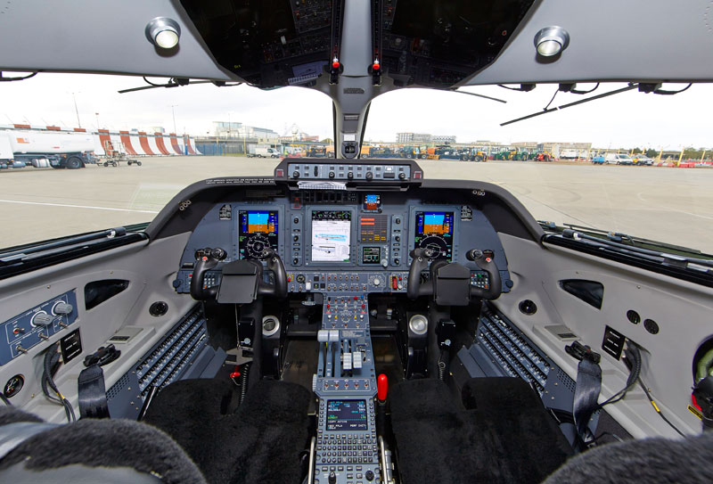 Piaggio Avanti EVO Cockpit