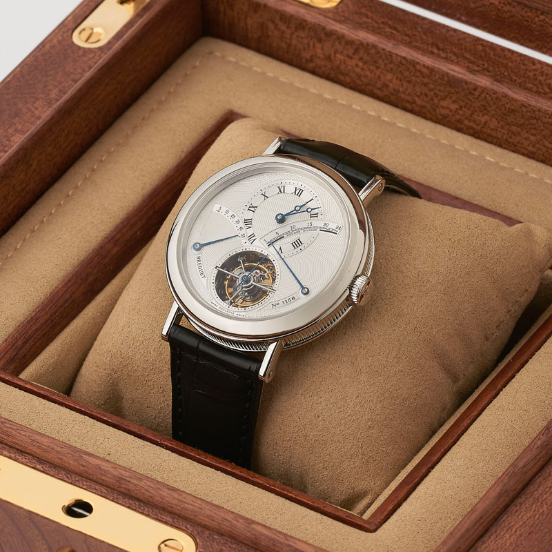 Platinum-Breguet-Tourbillon-Watch-in-presentation-box