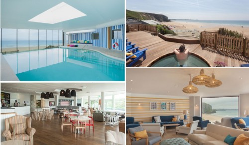 Pool, Hot Tub and Daytime Rooms Watergate Bay Cornwall