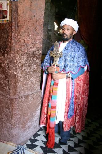 Priest Bet Medane Alem Lalibella Ethiopia