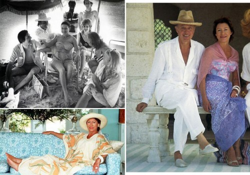 Princess Margaret on Mustique with Colin Tennant and friends