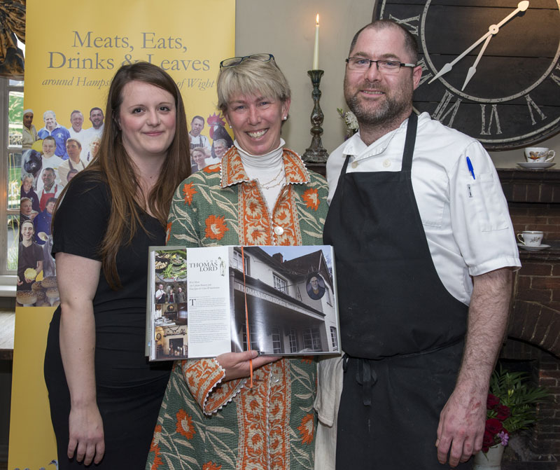 The Thmas Lord Pub-manager-Clare-Winterbottom,-Author-Penny-Ericson,-Head-Chef,-Fran-Joyce