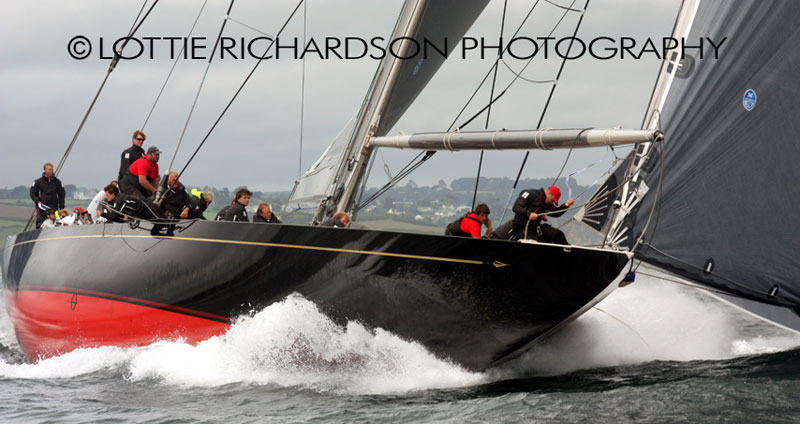Rainbow under full power at her inaugural regatta Falmouth