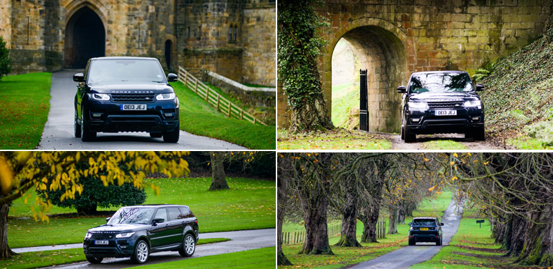 Range-Rover-Sport-driven-around-the-Grounds-of-the-Castle-and-Park