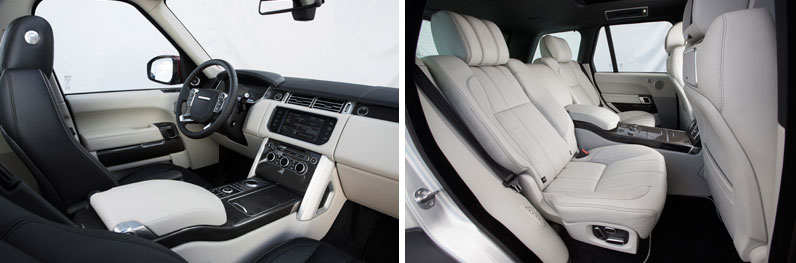 Range Rover Vogue Front and Rear Seats