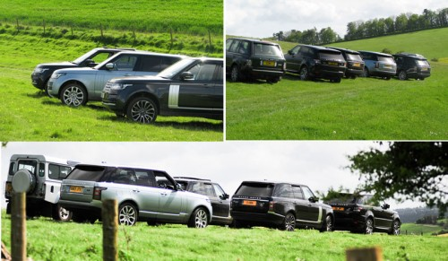 Range Rovers at Fonthill