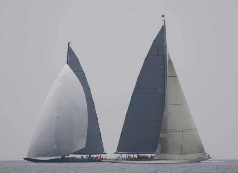 Ranger and Lionheart duel around a mark at Falmouth