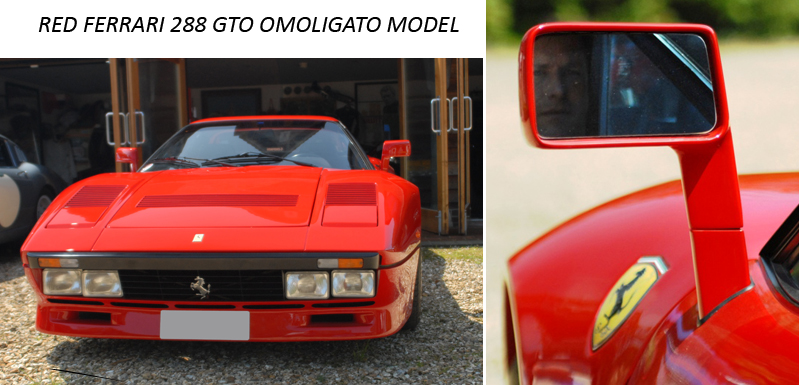 Red Ferrari 288 GTO Omoligato Model