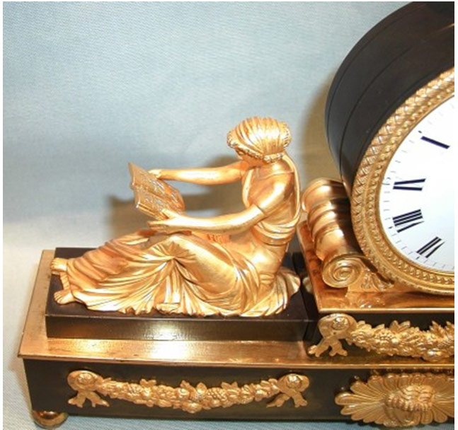 Regency Ormolu Bronze Mantel Clock by Baetens