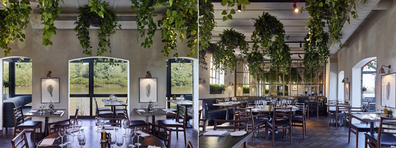 Rick Stein restaurant at Barnes interior with views of Thames