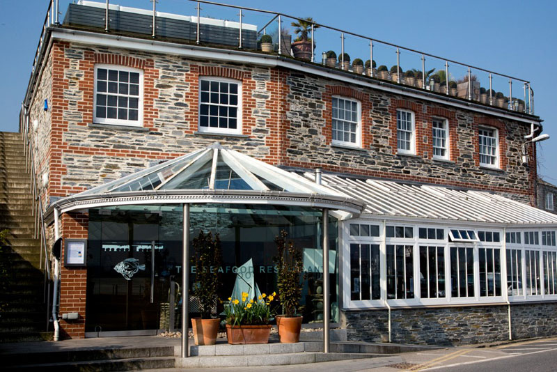 Rick Stein The Seafood Restaurant glass front