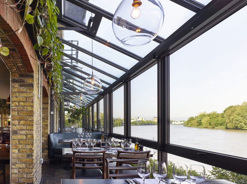 Rick Stein at Barnes view of the River Thames