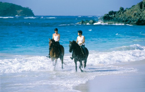 Riding-on-Mustique