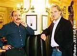 Robin Hutson & Gerard Basset in the Bar at Hotel du Vin in Winchester