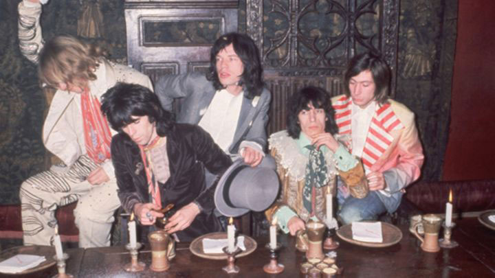 Rolling Stones at the Gore Hotel Kensington 10 1968 to launch their new album Beggars Banquet
