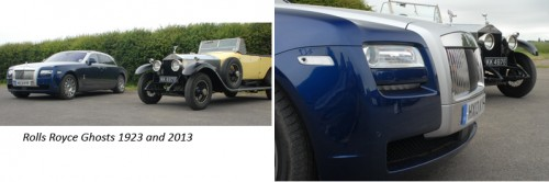 Rolls Royce Ghosts 1923 and 2013