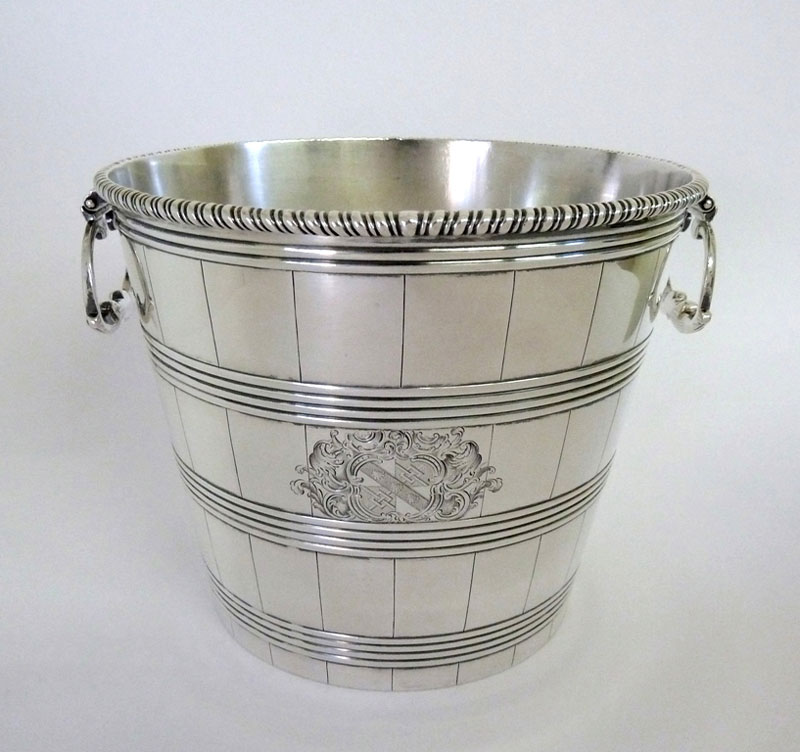 Silver-18th-century-Table-Wine-Cooler-in-the-form-of-a-pail